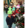 Wearing our Christmas Hats