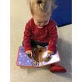 Reading a Christmas book