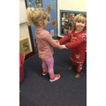 Peers Dancing to the music