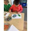 Exploring colour mixing.