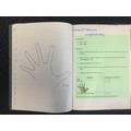 Measuring hand span