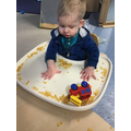 Exploring the cars in cornflakes