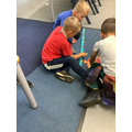 Counting in 10s along a number line