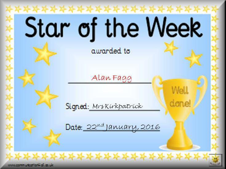 Congratulations to Alan!