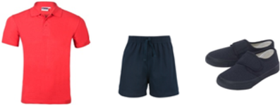 PE Kit - these items can be purchased cheaply from any major Supermarket chain.