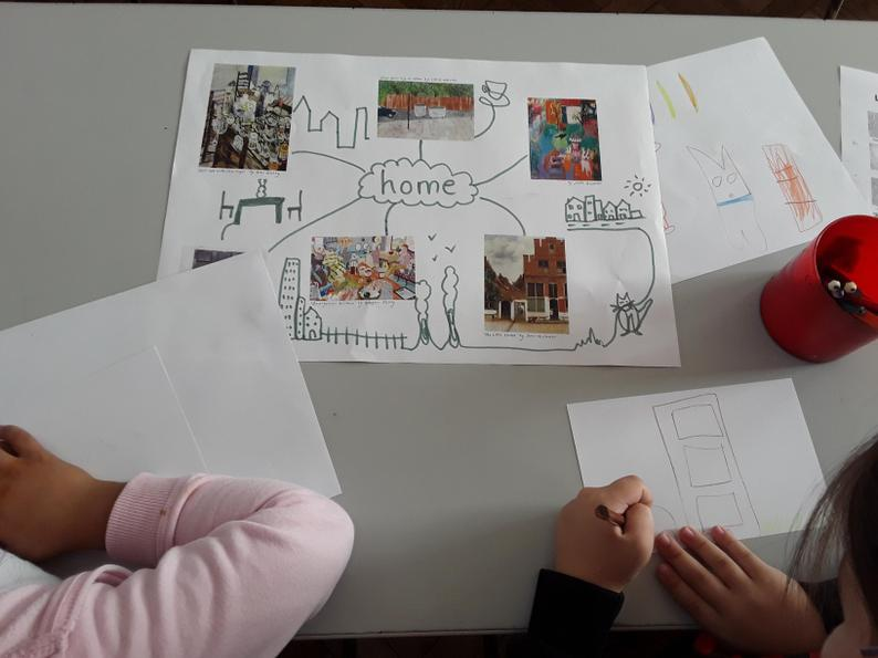 We studied 'home' themed artwork.