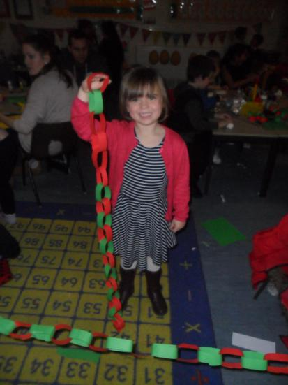 Can you make a paperchain as tall as you? Yes!