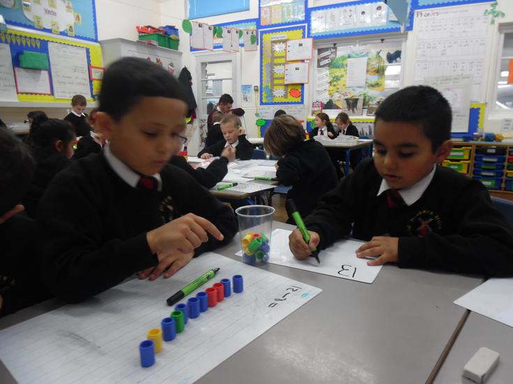 Maths resources being brilliantly used!