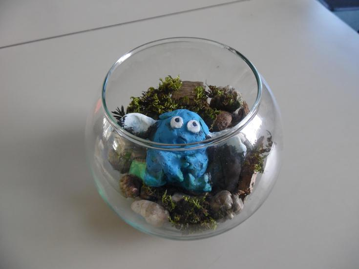 We put him in a jar