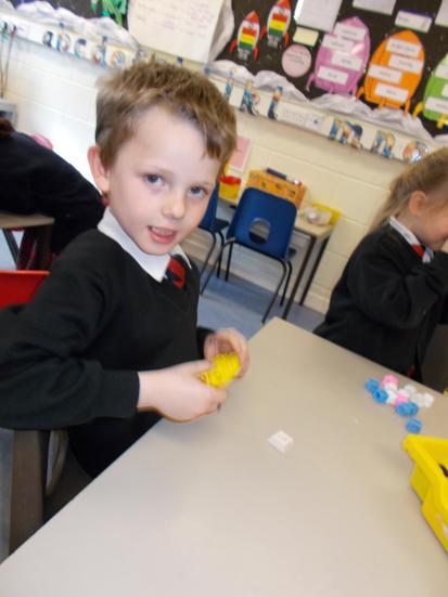 We solved multiplication problems.