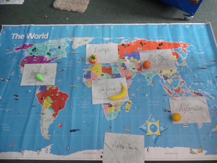 World fruit map