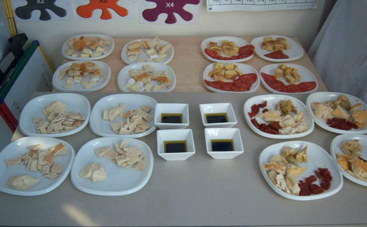 We compared the taste of Mediterranean foods.