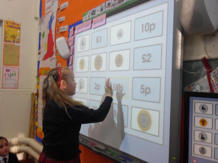 Money solving interactive activities