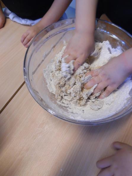 Knead the dough into a ball