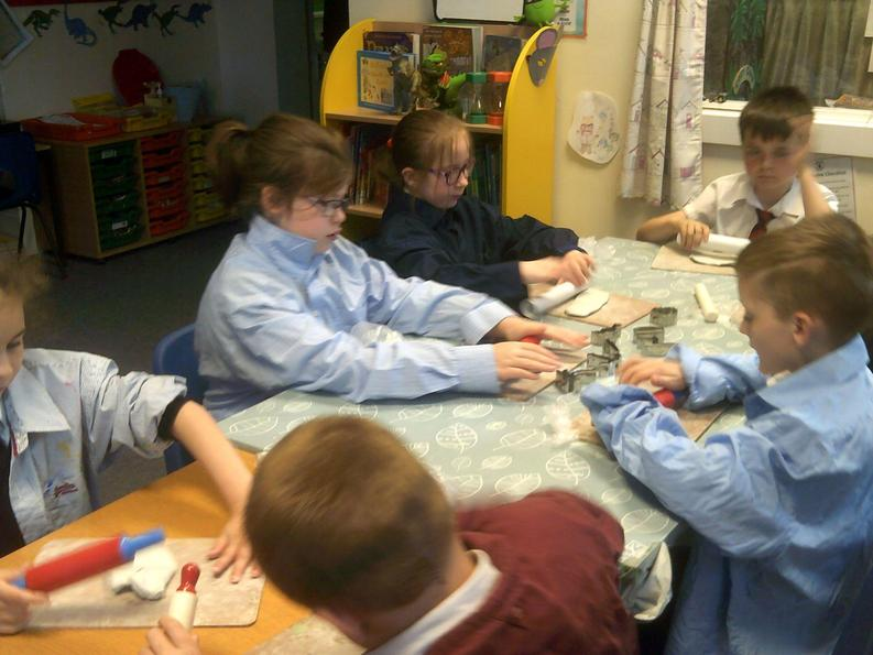 Pirate clay shapes