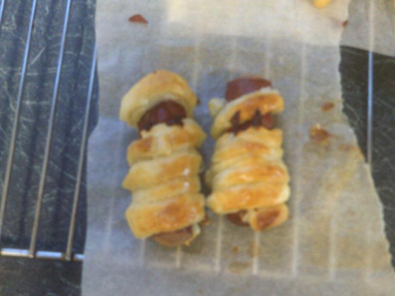 Sausage and pastry mummies