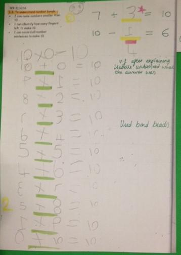 We solved problems using our number bond knowledge