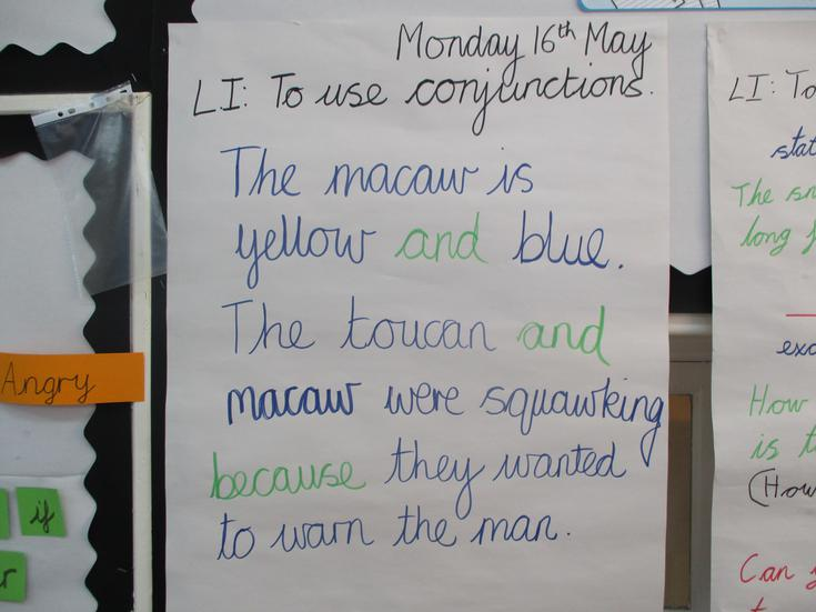 Using conjunctions in our writing.