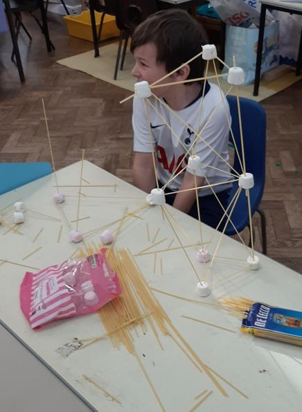 marshmallows and spaghetti towers