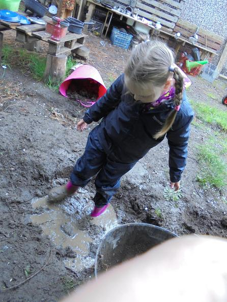 Loved the mud pit