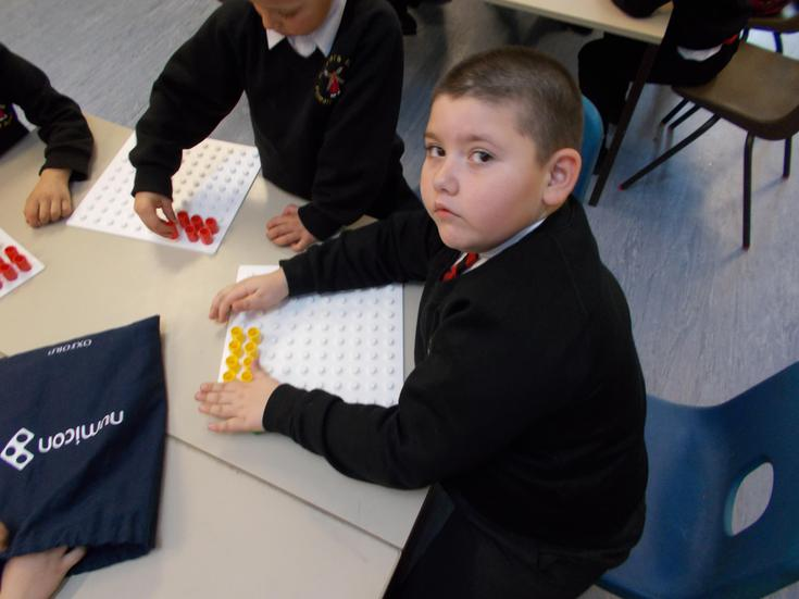 We made arrays using resources.
