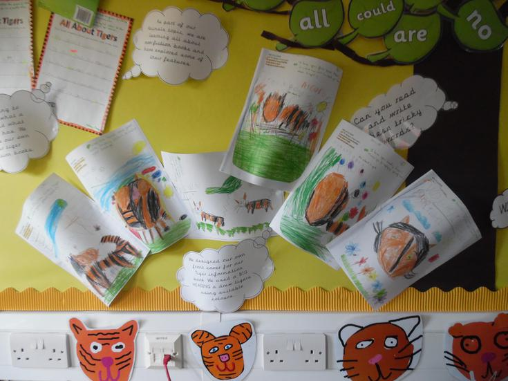 Some fantastic book covers for our tiger books.