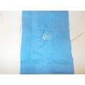 Making a star through sewing.