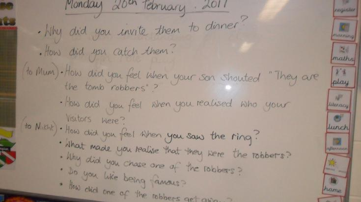 Questions for our story characters.