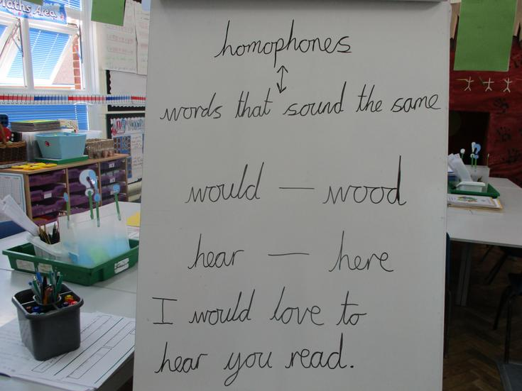 Learning about homophones