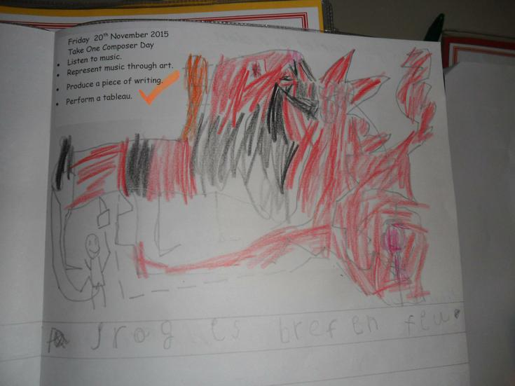 Wow, a fierce dragon breathing fire.