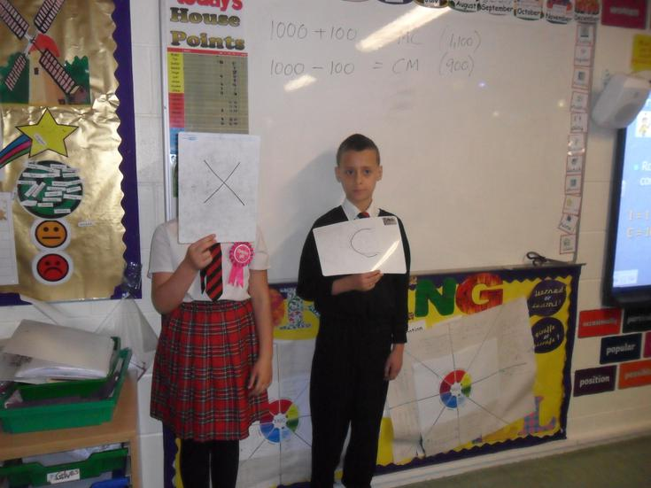 We can use Roman Numerals. WELL DONE!