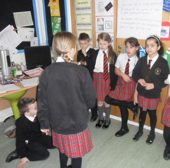 Learning a poem through drama.......