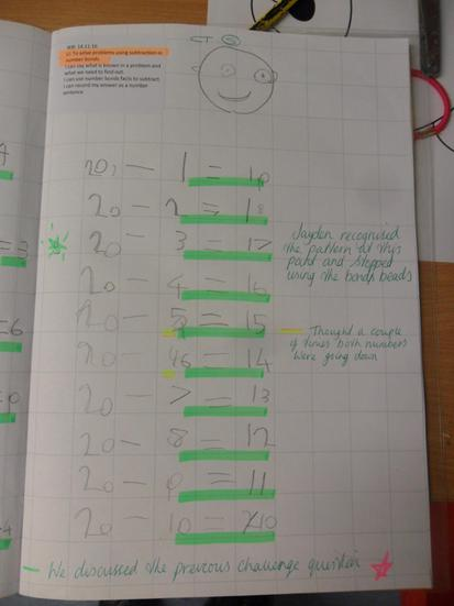 We have been solving number bond problems.