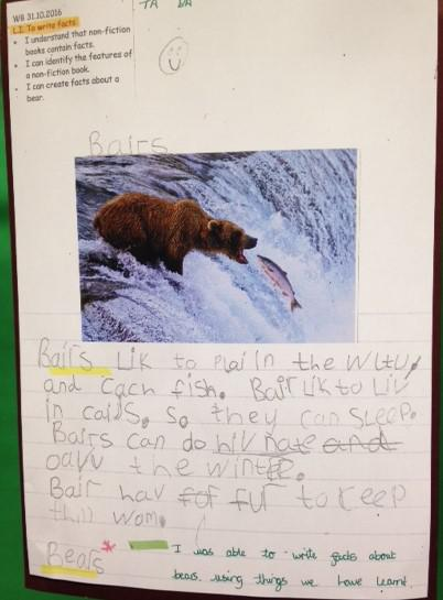 Look at this fantastic piece of writing!