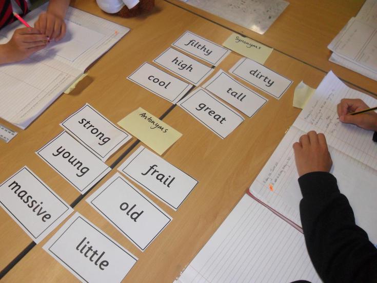 Literacy: Antonyms and Synoyms.