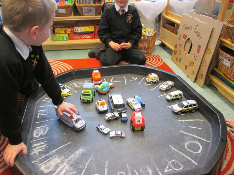 Emergency vehicles parking number activity