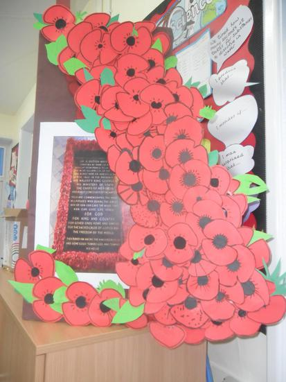 Year 5 contribution to our Remembrance celebration