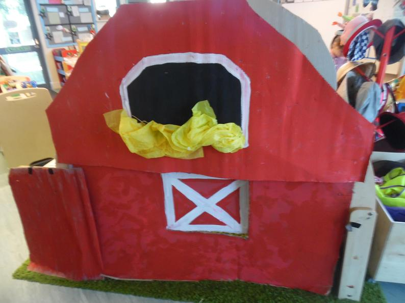 We are creating our very own barn!