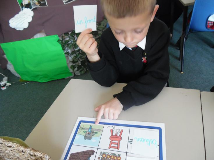 Learning to use prepositions
