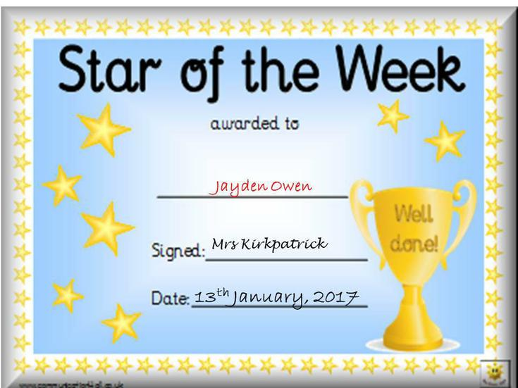 for constant ENDEAVOUR. Proud of you Jayden!