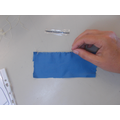 Look at this example of a blanket stitch.