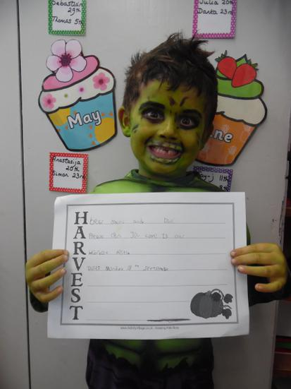 Super writing related to our 'Harvest Festival'