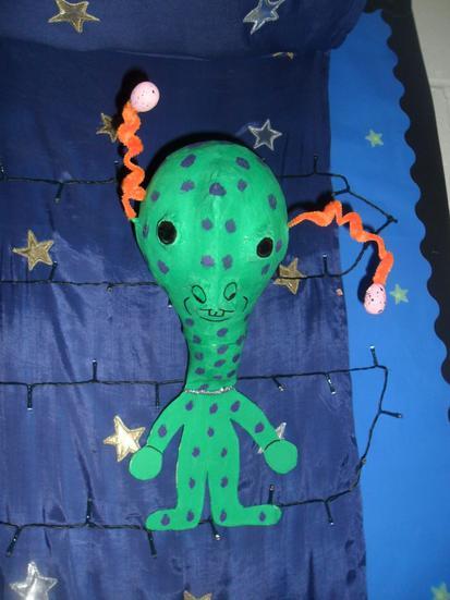 Alisha's amazing alien.