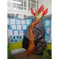 Our volcano book corner