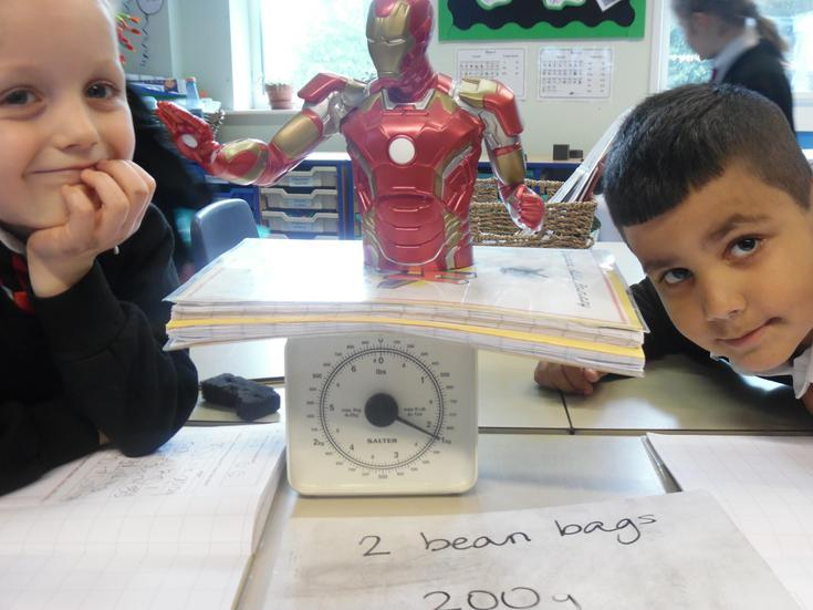Our superheroes help us read scales!