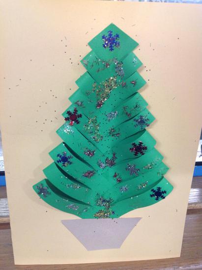 WOW! A beautiful Christmas card to take home......