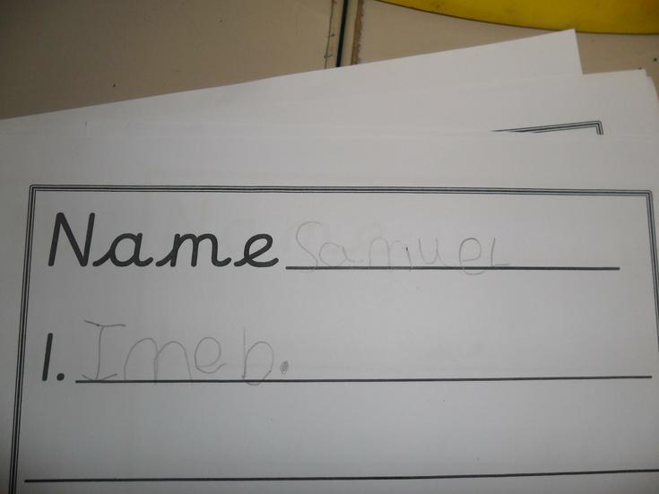 This child writes their name beautifully.