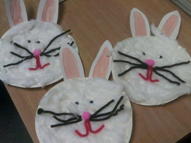 Cotton wool rabbits
