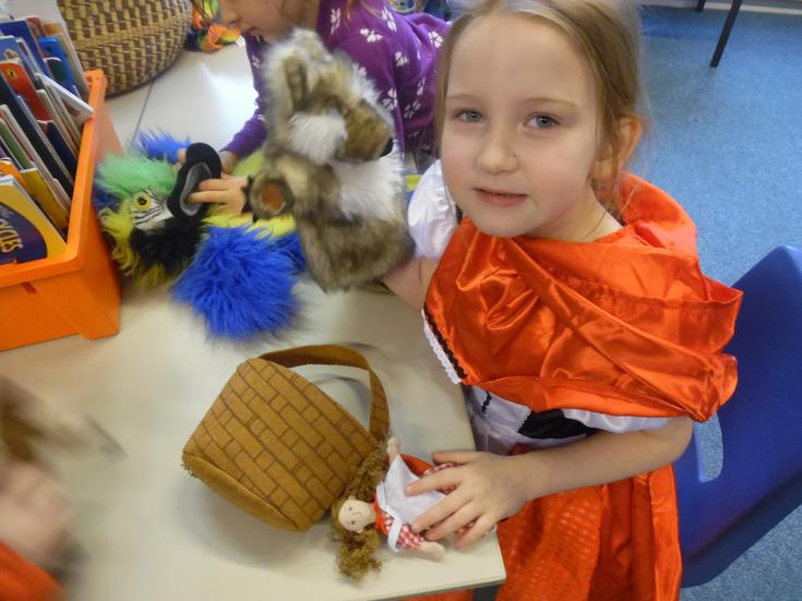 Puppets helped us re-tell stories