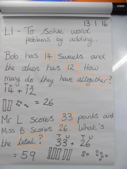 Solving word problems in Maths
